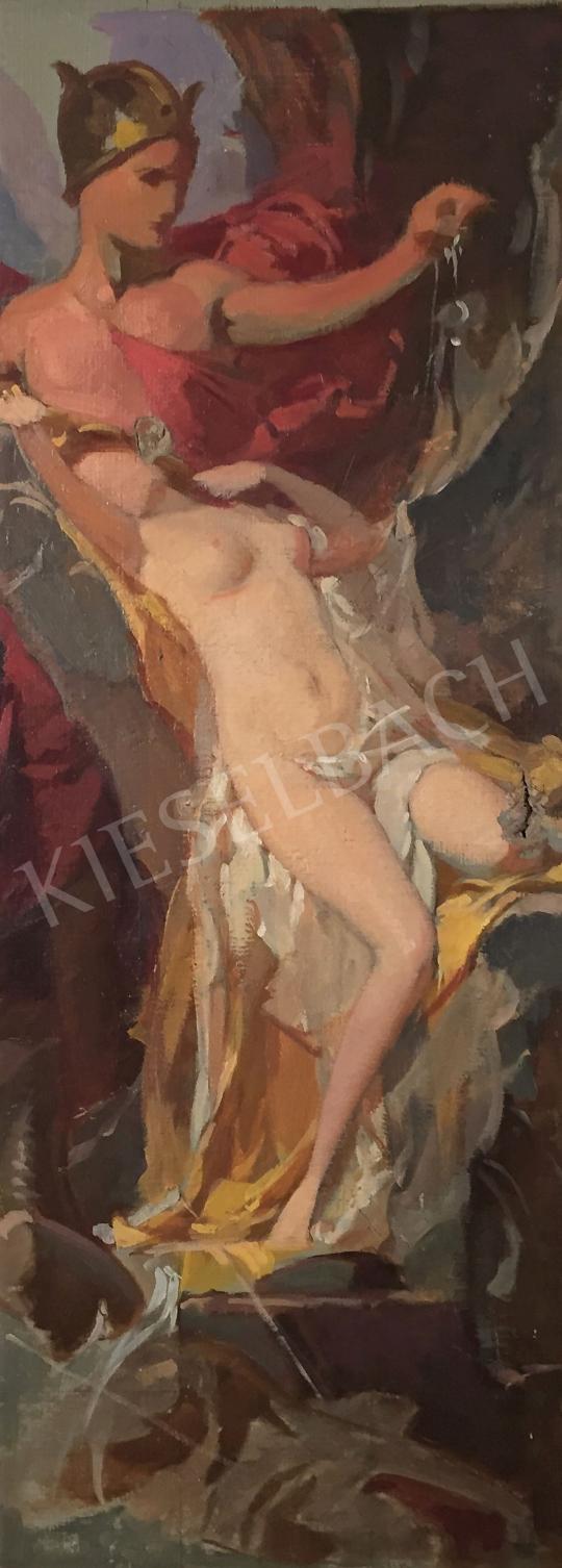 Stein János Gábor - A védelmező (Perszeusz és Androméda) festménye