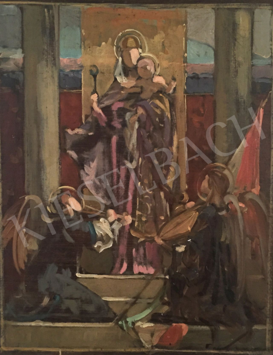 Stein, János Gábor - Hungarian Madonna painting