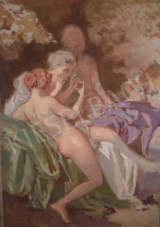 Stein János Gábor - Szépítkező nimfák festménye