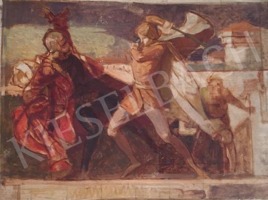 Stein, János Gábor - Fight Scene painting