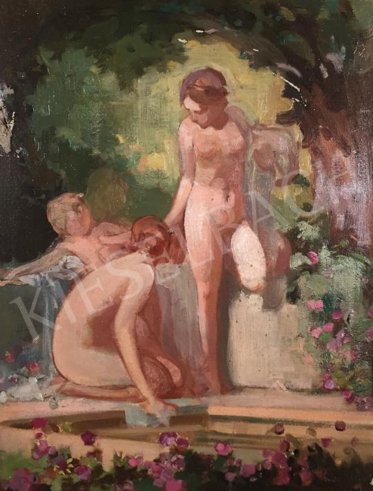 Eladó  Stein János Gábor - Nimfák kertben festménye
