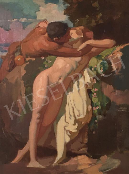 Stein János Gábor - Csók (Szerelem) festménye