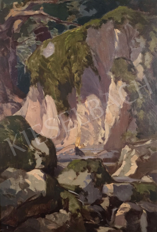 Stein János Gábor - Erdei patak  festménye