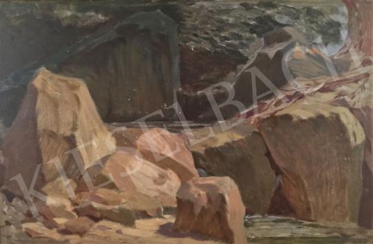 Stein, János Gábor - Forest Brook with Rocks painting