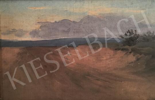 Stein János Gábor - Halvány kék felhők a horizonton  festménye