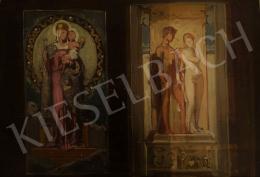 Stein János Gábor - Mária a kisdeddel és Mars és Vénusz (vázlat)