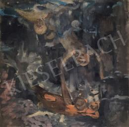 Stein, János Gábor - Fountain scene (Sketch)