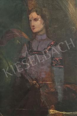 Stein János Gábor - Fiatal lány magasgallérú ruhában