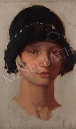 Stein János Gábor - Fiatal lány art deco kalapban