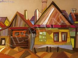 Pittner Olivér - Színes házak Nagybányán