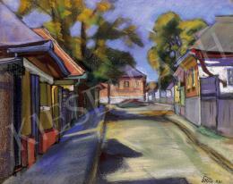Pittner Olivér - Nagybányai utcarészlet