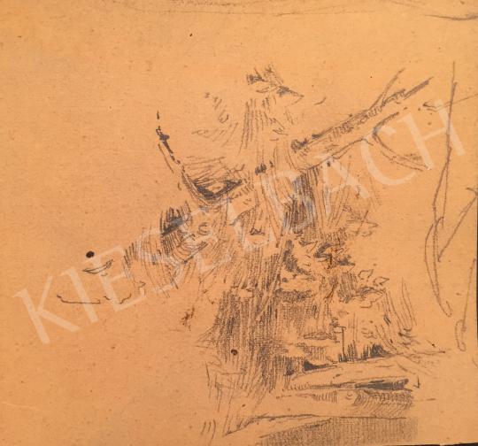 Stein János Gábor - Erdő részlet festménye