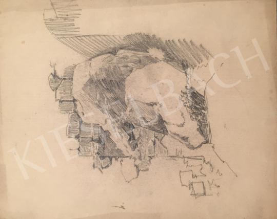 Stein János Gábor - Sziklás részlet festménye