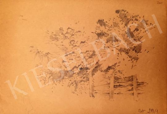 Stein, János Gábor - Tree Line Detail painting