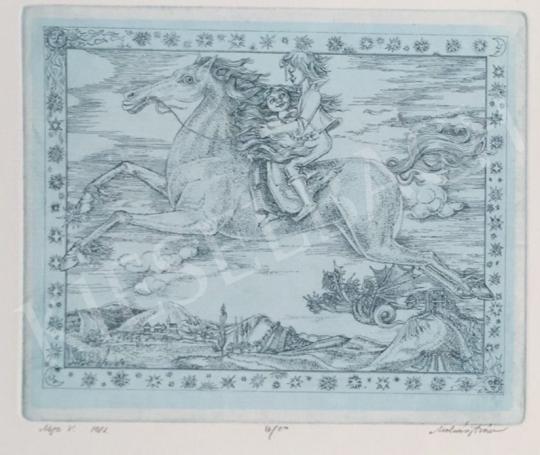 Eladó  Molnár Iscsu István - Mese V., 1981 festménye