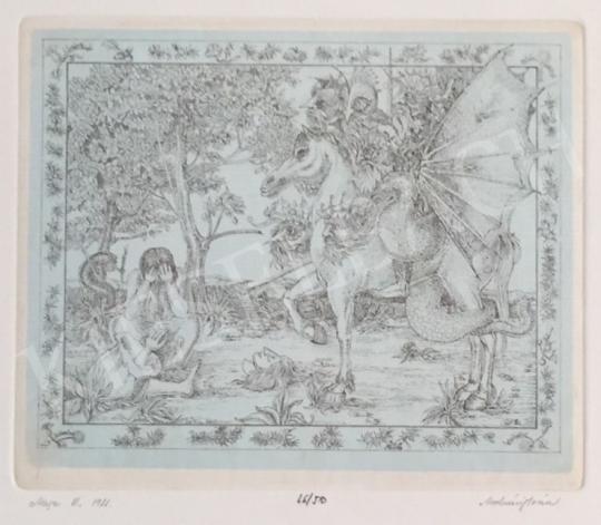 Eladó  Molnár Iscsu István - Mese III., 1981 festménye