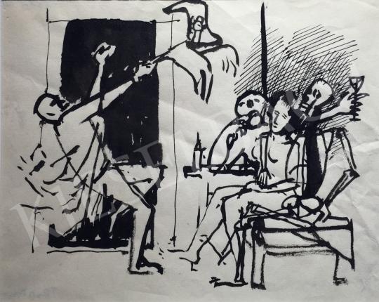 Kondor Béla - Kocsmajelenet -  26 grafika együtt festménye