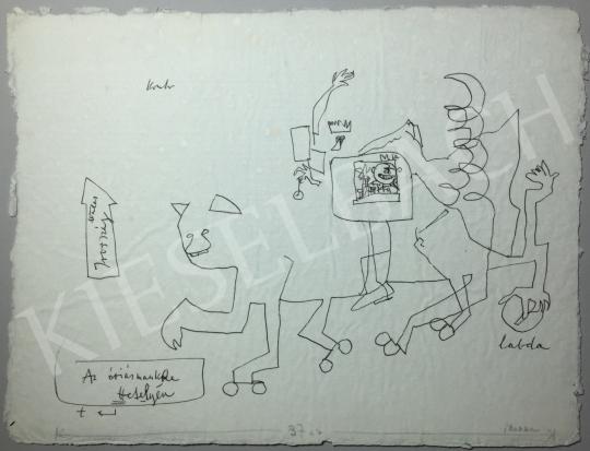Kondor Béla - Az óriásmacska ttetelyén -  26 grafika együtt festménye