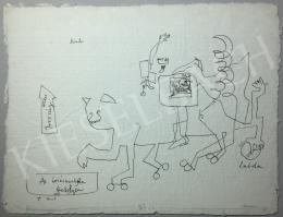 Kondor Béla - Az óriásmacska ttetelyén -  26 grafika együtt