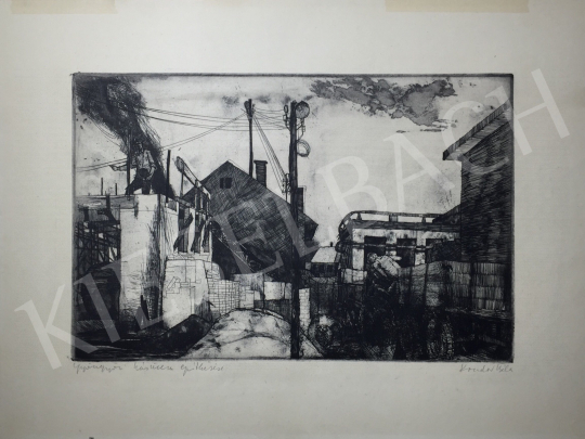 Kondor, Béla - Construkction of a Meat Factory painting