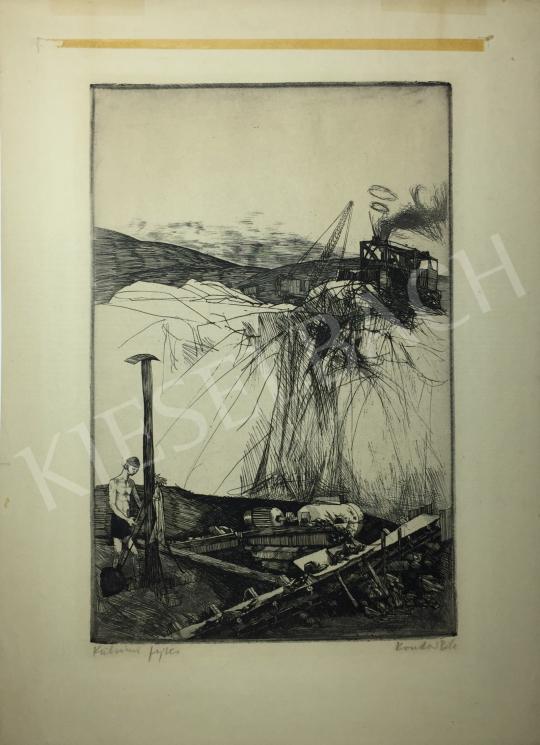 Kondor Béla - Külszíni fejtés -  26 grafika együtt festménye
