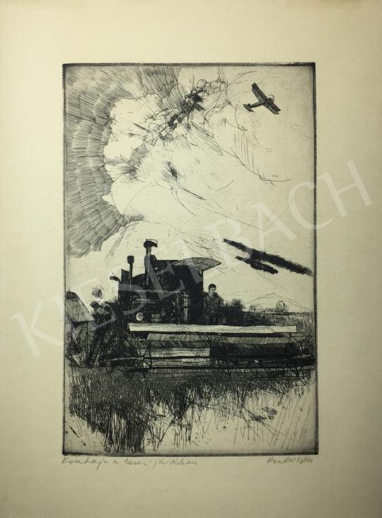 Kondor Béla - Kombájn a hevesi járásban -  26 grafika együtt festménye