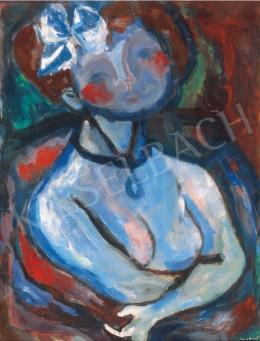 Anna Margit - Kislány fehér masnival
