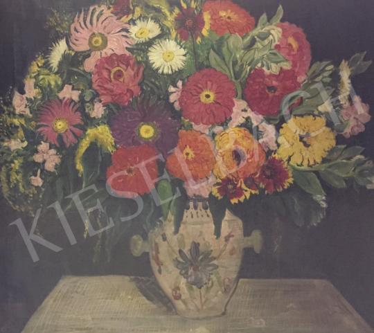 Eladó  Vörös Géza - Virágcsendélet, 1934 festménye