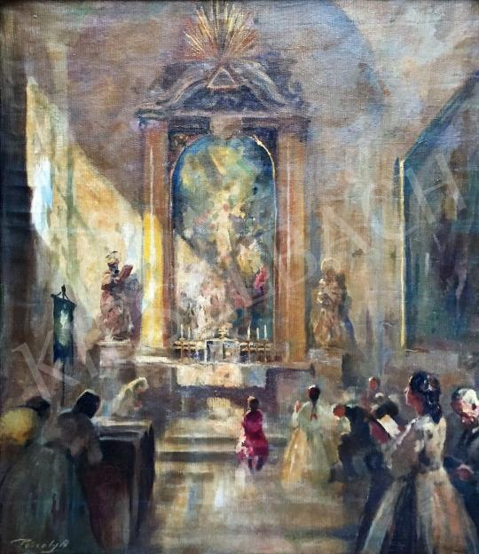 For sale Péczely, Antal - In the Church 's painting