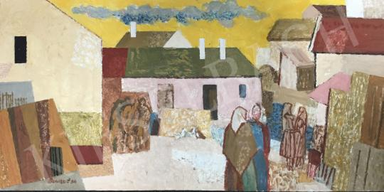For sale  Bencze, László - Village Composition, 1984 's painting