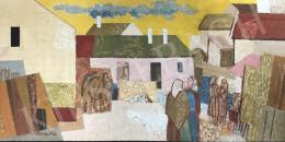 Bencze László - Falusi kompozíció, 1984