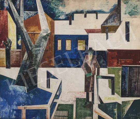 Ficzere, László - Man on the Bridge, 1965 painting