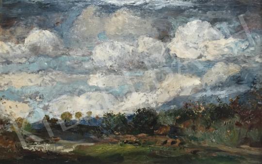 Magyar Mannheimer Gusztáv - Felhős táj festménye