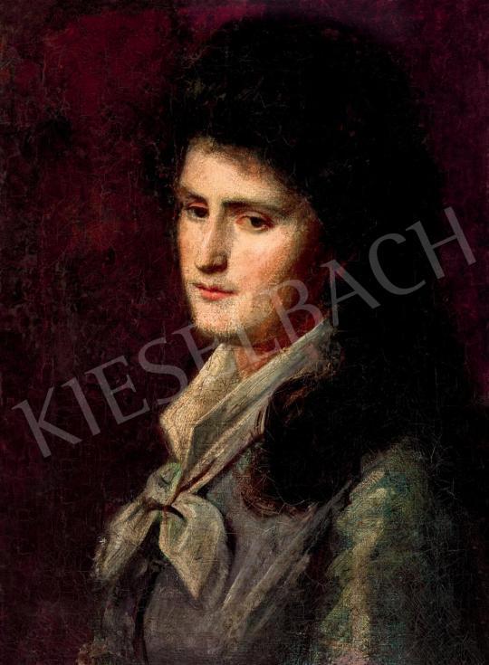 Székely Bertalan - Álmodozó szemű női arckép festménye