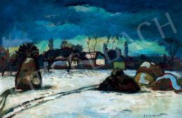 Iványi Grünwald Béla - Faluvége télen (Kecskemét)