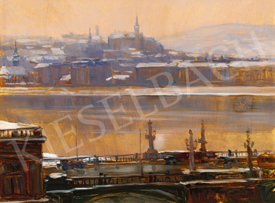 Horváth, Béla - The Danube in Winter With the Margareth Bridge | 56th Autumn Auction auction / 59 Item