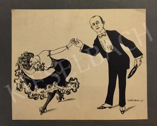 Eladó Vanek József - Udvarlás (2 oldalas kép) festménye
