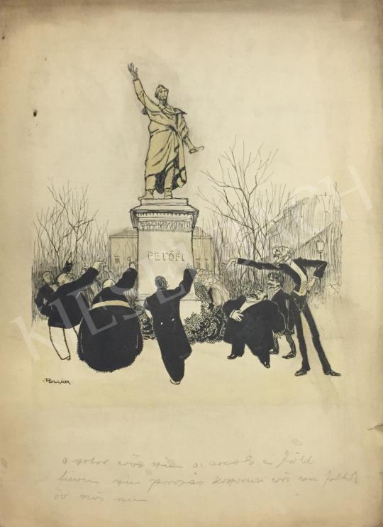 Eladó Polgár Márton - Petőfi szobor előtt festménye