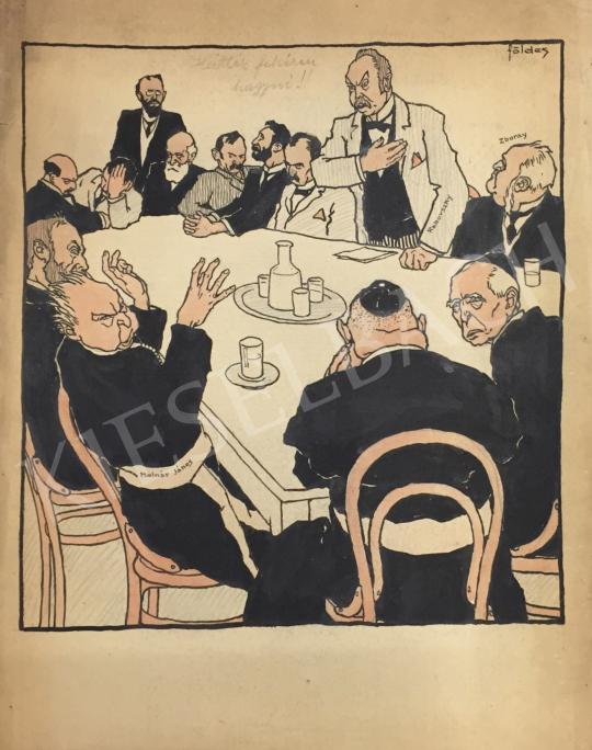 For sale Földes, Imre (Feld Imre) - Gentlemen's Table 's painting