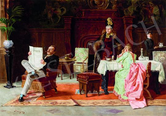 Eladó Margitay Tihamér - Szalonban festménye