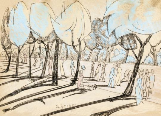 Scheiber Hugó - Parkban (Városliget), 1930 körül   56. Őszi Aukció aukció / 7 tétel