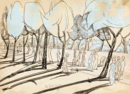 Scheiber Hugó - Parkban (Városliget), 1930 körül