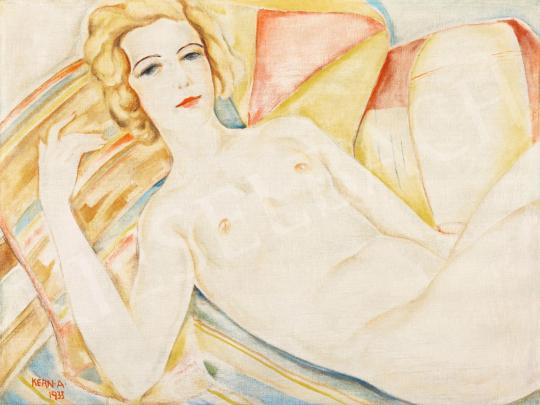 Kern Andor - Art deco akt pamlagon, 1933 | 56. Őszi Aukció aukció / 17 tétel