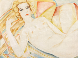 Kern, Andor - Art Deco Nude on the Sofa, 1933