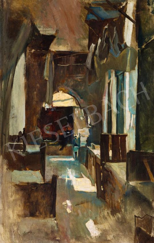 Eisenhut Ferenc - Arab kávézó kisfiúval | 56. Őszi Aukció aukció / 23 tétel
