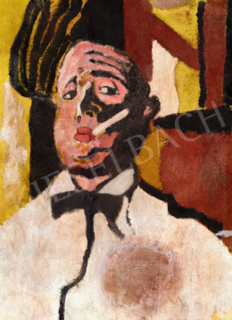 Scheiber, Hugó - Selfportrait in a Café, early 1920s