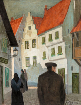Teplánszky, Sándor - German Town (Afternoon Walk), 1911