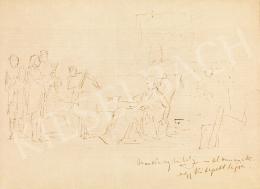 Munkácsy Mihály - Vázlat a Mozart halála című képhez, 1886 előtt