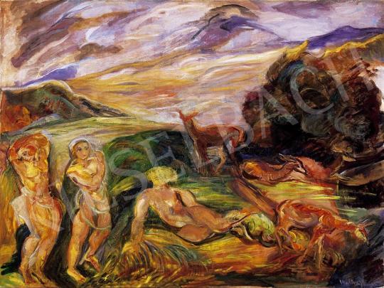 Ismeretlen festő - Aktok őzikékkel   7. Aukció aukció / 216 tétel
