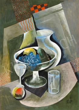 Kádár Béla - Műtermi csendélet (Síkok, formák ritmusa), 1930-as évek